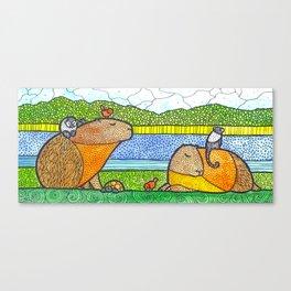 Capybaras Canvas Print