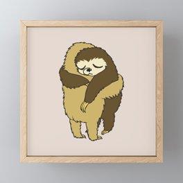 Sloth Hugs Framed Mini Art Print