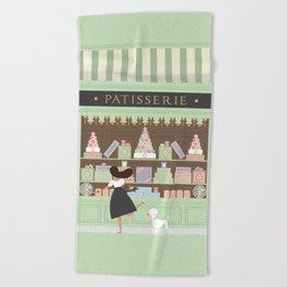 Patisserie Beach Towel