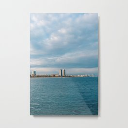 Barcelona Coast III Metal Print