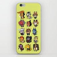 dangan ronpa iPhone & iPod Skins featuring Dangan Crossing by Dampho