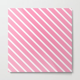 Musk Stick Diagonal Stripes Metal Print