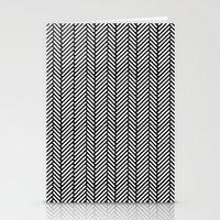 herringbone Stationery Cards featuring Herringbone Black by Project M
