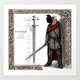 Swedish Viking Art Print