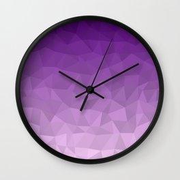 Purple Ombre - Flipped Wall Clock