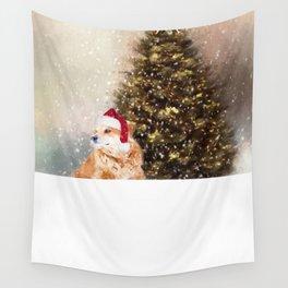 A Retriever kind of Christmas Wall Tapestry