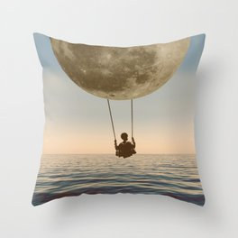 DREAM BIG/MOON CHILD SWING Throw Pillow