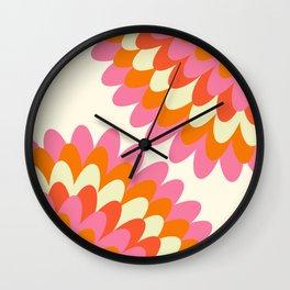 Dahlia at 60's Wall Clock