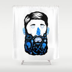 Pirate Beard Shower Curtain