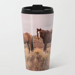 HORSES - BROWN - GRASS Travel Mug