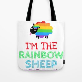 I'm the Rainbow Sheep in My Family Tote Bag