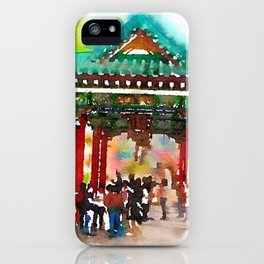 Temple  in Hong  Kong iPhone Case