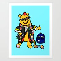 pooh Art Prints featuring Doctor Pooh by Murphis the Scurpix