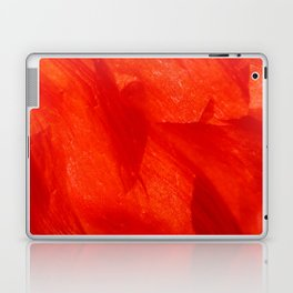 Crumpled Poppy Petal in Red Soft Flake Pattern Laptop & iPad Skin