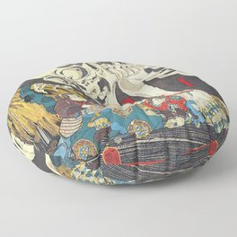 Utagawa Kuniyoshi Takiyasha The Witch Floor Pillow