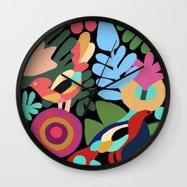 Traditional jungle theme Wall Clock