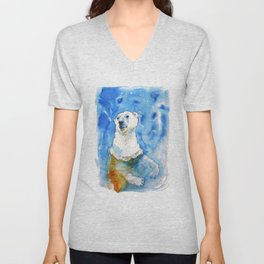 Polar Bear Inside Water Unisex V-Neck