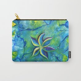 The Fallen One- Story Of A Flower Colorful Abstract Painting Carry-All Pouch
