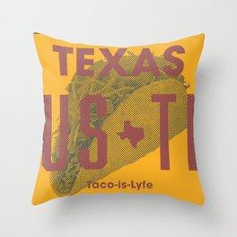 Taco is Lyfe Throw Pillow