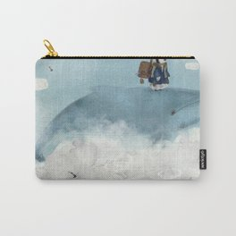 the little explorer and the big blue whale Carry-All Pouch