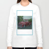 truck Long Sleeve T-shirts featuring Pickup truck by spiderdave7