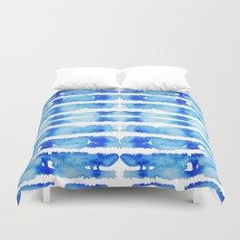 Indigo Watercolor Shibori Duvet Cover