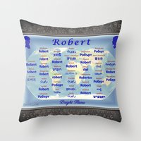 robert farkas Throw Pillows featuring Robert by JMcCombie