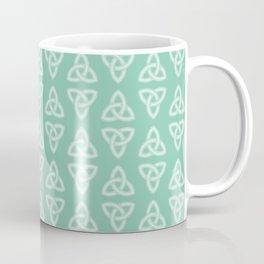 Green Celtic Knot: Trinity Knot Coffee Mug