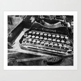 Writing Machine no. 4 Art Print