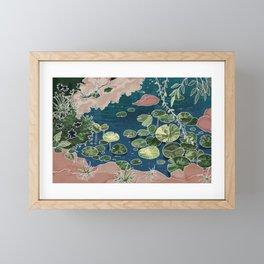 Green pond Framed Mini Art Print