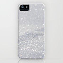 Silver Gray Glitter Sparkle iPhone Case