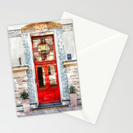 Vintage Old Door Latvia - For Doors & Travel Lovers Stationery Cards