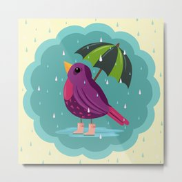 Rainy Days Are Still Good Days Metal Print