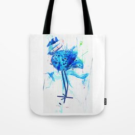 Turquoise heron watercolor Tote Bag