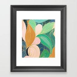 Swirly Interest Framed Art Print