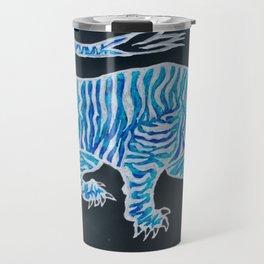 Tiger Blue Travel Mug