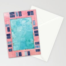 Turkish towel pool Stationery Cards