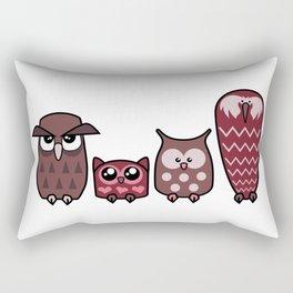 All is Owly (cherry) Rectangular Pillow