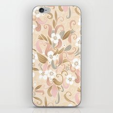 Floral curve pattern, rose gold iPhone & iPod Skin