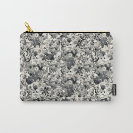 FLORAL Black and white // LIFE OF FLOWERS Carry-All Pouch