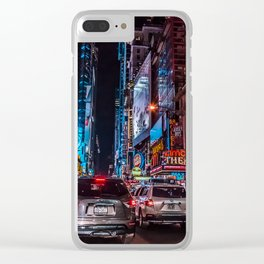 THE TIMES SQUARE SHUFFLE Clear iPhone Case