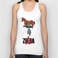 zelda Tank Tops featuring Zelda/Akira by Henrique Jardim