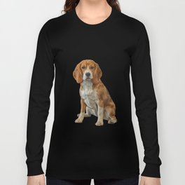 Drawing Dog Beagle Long Sleeve T-shirt