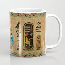Hathor Egyptian Ornament on papyrus Coffee Mug