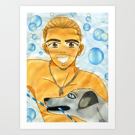 Bubbles & Beach Cornbread Art Print