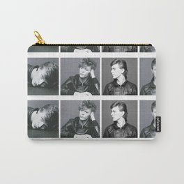 Monochrome Magnificence: Bowie Carry-All Pouch