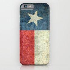 Texas flag, Retro distressed texture Slim Case iPhone 6