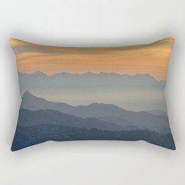 Sunset at the mountains Rectangular Pillow