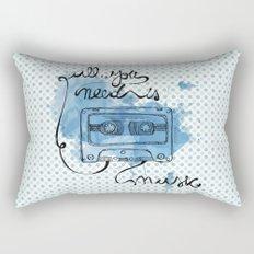 Music's all you need Rectangular Pillow