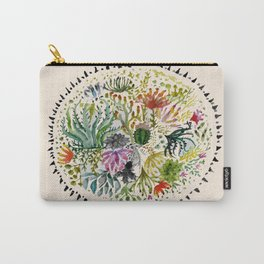 Succulents Mandala Carry-All Pouch